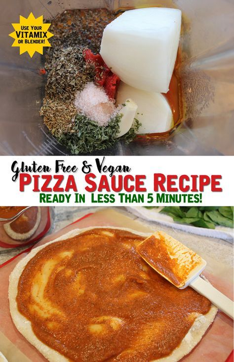 A Quick Homemade Pizza Sauce Recipe that's Gluten Free & Vegan! Make in your Vitamix, Food Processor or Blender