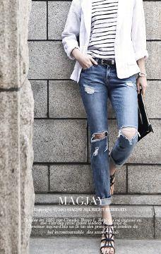 Magjay J61PT-011빈티지 배기 팬츠