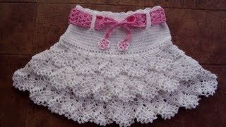 crochet vestido para nina de 4 anos - YouTube