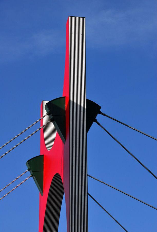 Basque Country, Bizkaia, Bilbao, La Salve Bridge