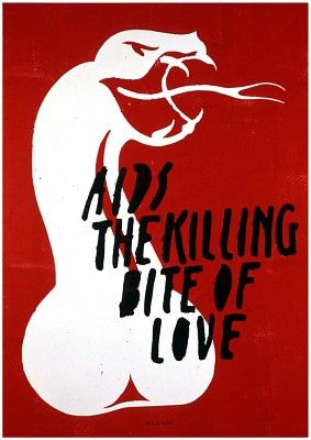 Anthon Beeke – Aids the killing bite of love – 1993