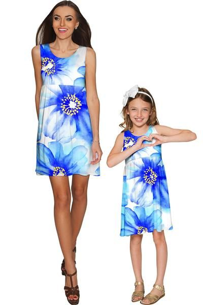Aurora Sanibel Empire Waist Mommy and Me Dresses - Pineapple - Mommy and Me Clothing