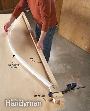 Menuiserie : Intéressante astuce pour tracer une courbe quasi-parfaite!