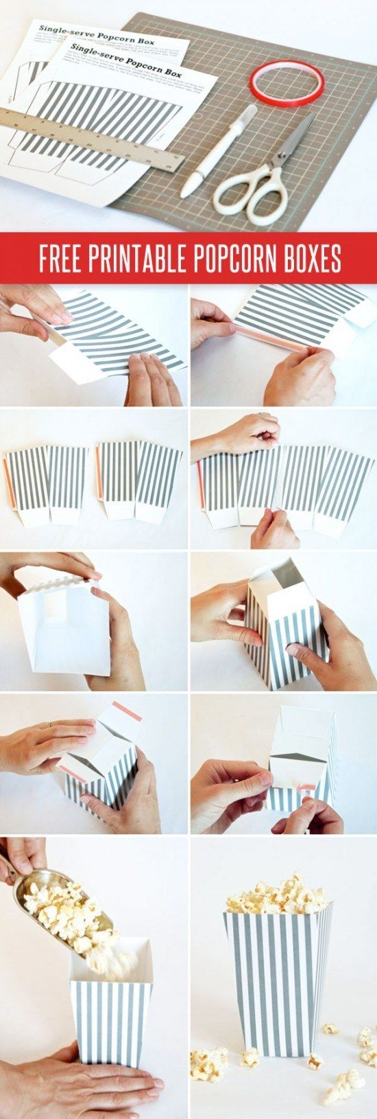 Individual Popcorn Boxes | 15 Useful And Artsy Things You Never Knew You Could Print At Home
