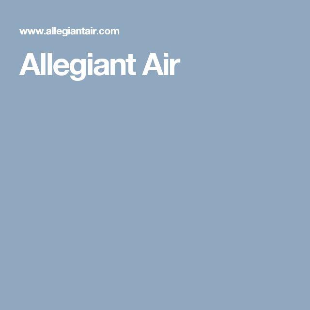 Allegiant Air - Optional Services & Fees $$