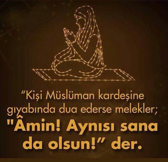 Müsliman kardeşine dua etmek