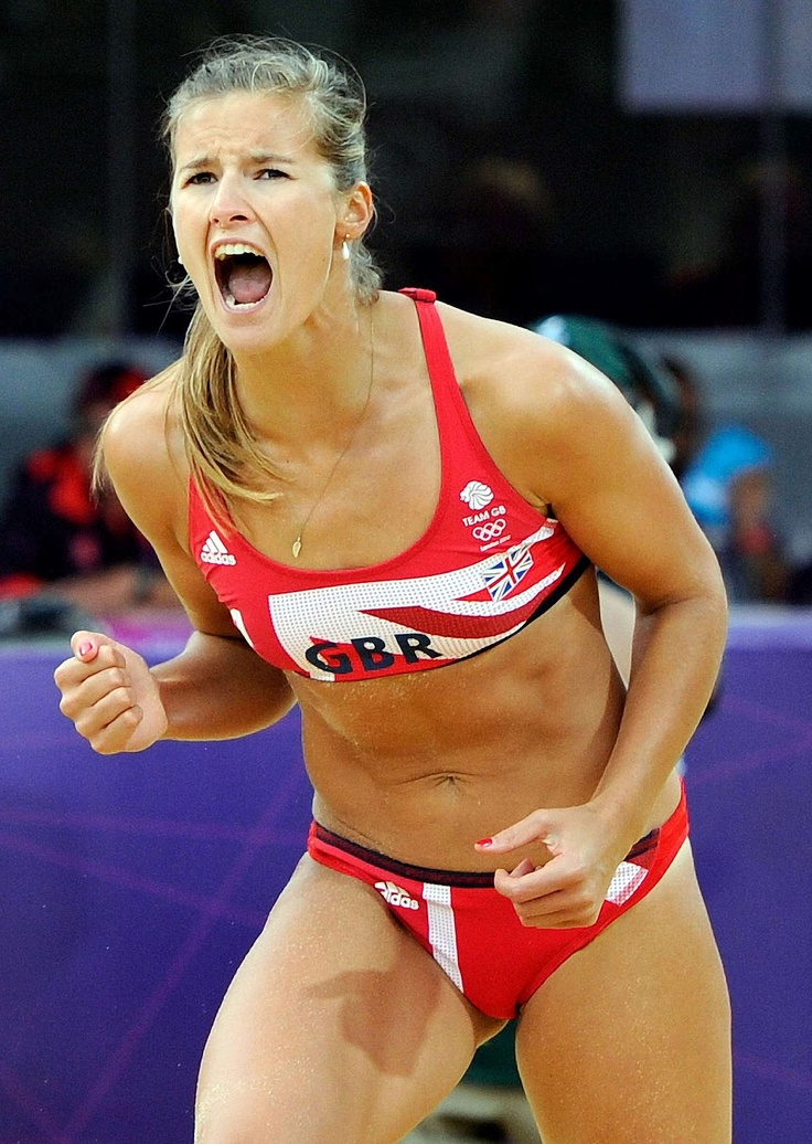 Zara Dampney, beach volleyball player for Great Britain, at the London 2012 games