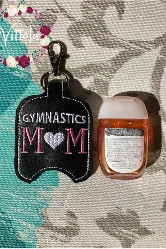 Gymnastics Mom Hand Sanitizer Holder Gymnastics Kid Etsy Hand