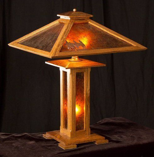 craftsman style table lamp plans google search - Kitchen Table Lamp