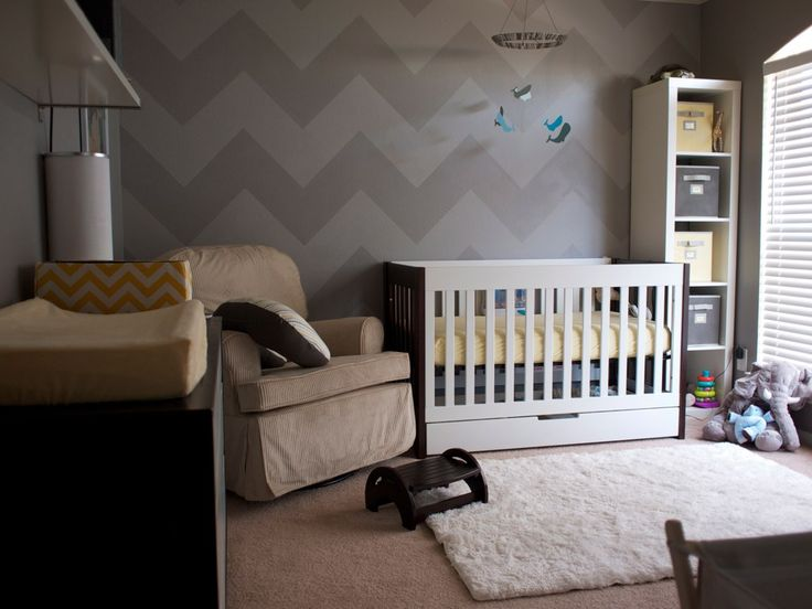 grey on grey chevron. This is so happening somewhere in my house...don't tell Mark!