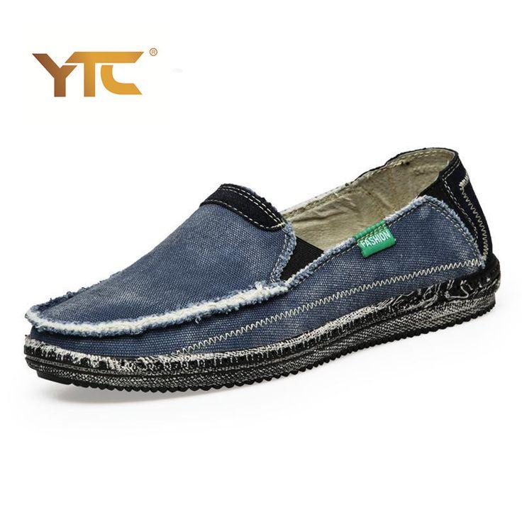 Новое поступление Низкой цене Мужские Дышащий Высокого Качества Повседневная Обувь Джинсы Холст Повседневная Обувь Slip On мужчины Мода Квартиры Loafer #jewelry, #women, #men, #hats, #watches, #belts