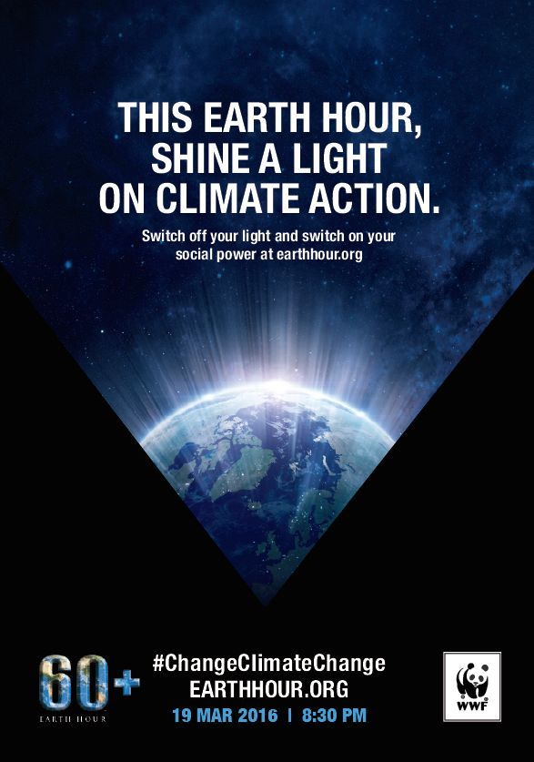 "3/19/2016 Earth Hour. Turn It All Off. You can be a ""Powerless Activist"" for One Hour and be surprised by how power-FULL it feels!."