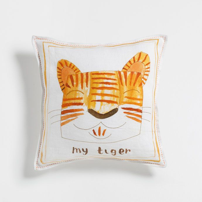 TIGER PRINT LINEN CUSHION COVER -  | Zara Home United Kingdom