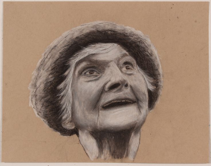 """""""Mam"""" Charcoal and Chalk drawing.  2014"""