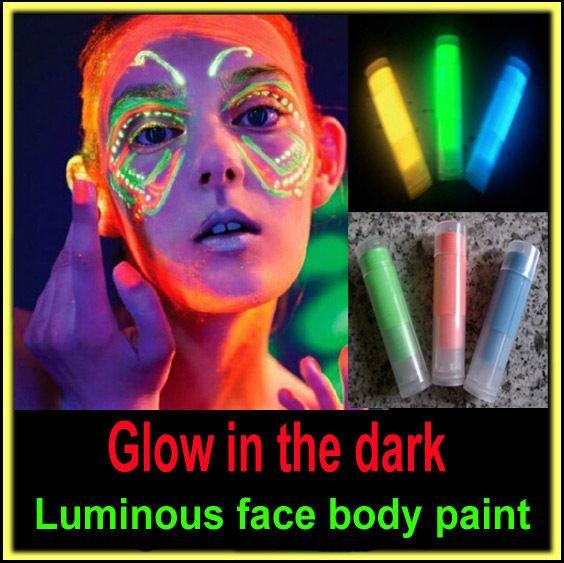 Светиться в темноте черный свет краска кузова лица цвет кузова световой флуоресцентный неон синий макияж maquiagem металлик флэш татукупить в магазине Fashion You & Me !!наAliExpress
