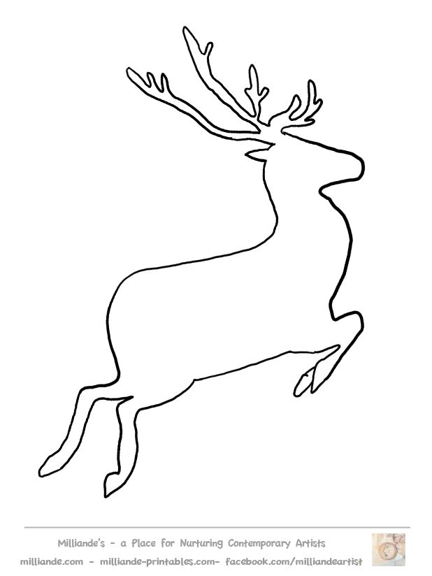 Free Reindeer Clipart Reindeer Crafts at www.milliande-printables.com  suitable for making Printable Stencil Patterns  LOVE IT !!!