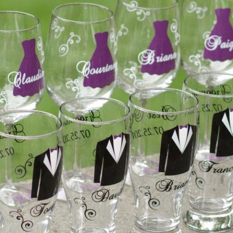 Wine glasses and beer mugs | DIY | Pinterest | Wedding, Weddings and ...