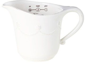 Great measuring tools are essential for baking. And this measuring cup is pretty and funcitonal! Get baking! Juliska 'Berry And Thread' Ceramic Measuring Cup (affiliate)