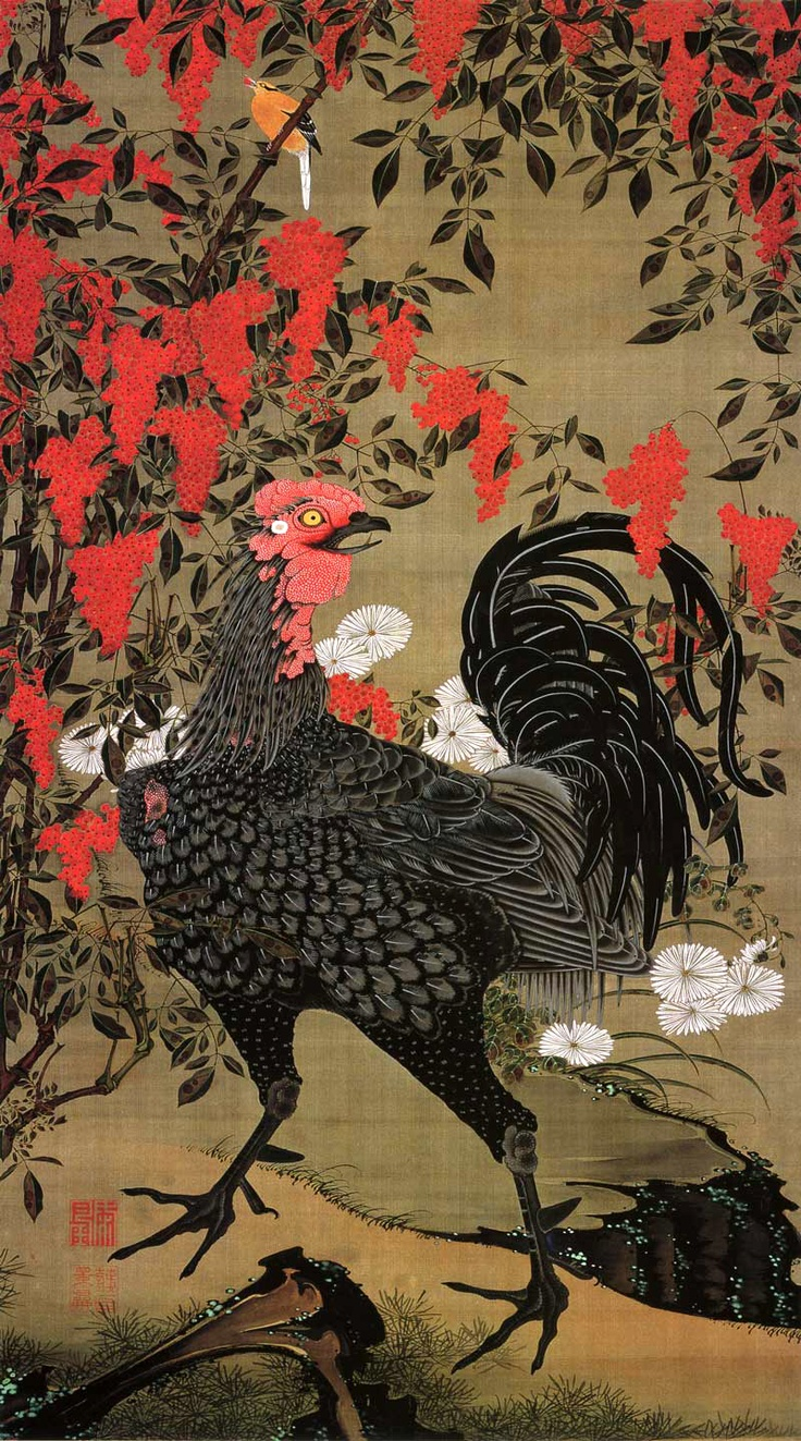 Jakuchu, very inspired by this 18th century Japanese artist