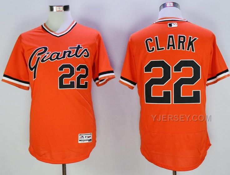 c0d271ed9eb ... Jersey Giants Will Clark Orange Flexbase Authentic Collection  Cooperstown Stitched MLB jerseys Mitchell And Ness 1989 ...