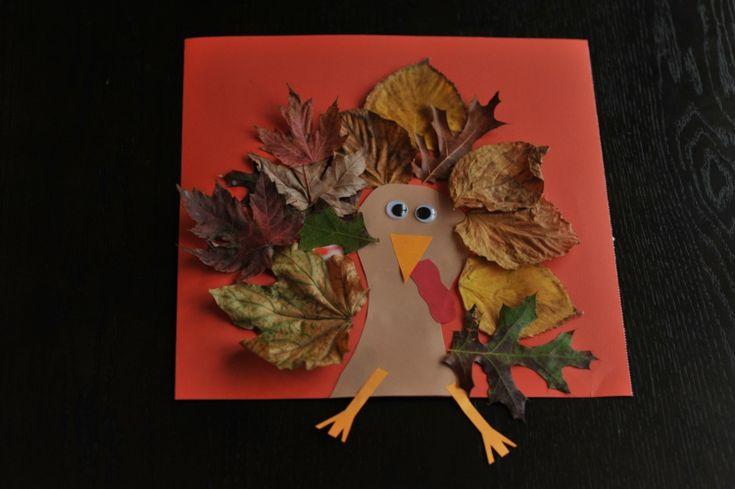 Ein Kinder Bild aus einem Vogel aus Papier und Blätter