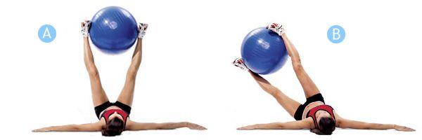 Знаменитые упражнения с мячом для фитнеса: для пресса и ...