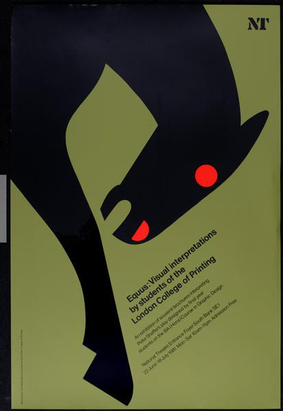 Tom Eckersley poster for the National Theatre, 1981