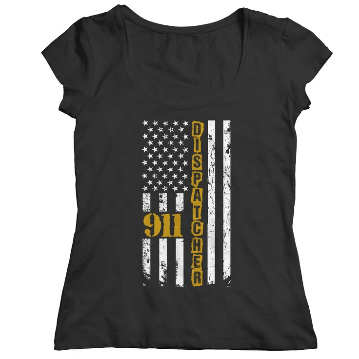 Limited Edition - 911 dispatcher flag T Shirt Ladies Classic Shirt Long Sleeve Hoodie Ladies V-Neck & Tank Top