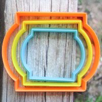 """Cookie cutter """"The plate №38"""" Set of 7, 9 and 11 cm"""