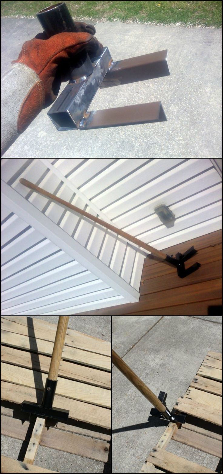 Love pallet projects, but hate the process of taking them apart? You can DIY this tool and you'll enjoy building with pallets even more!  http://diyprojects.ideas2live4.com/2015/11/10/make-your-own-pallet-breaker/  Your pallet breaker can be made from different scrap metals and old yard tools. No expensive materials needed, only some welding skills required.  Do you know someone who needs this, too?