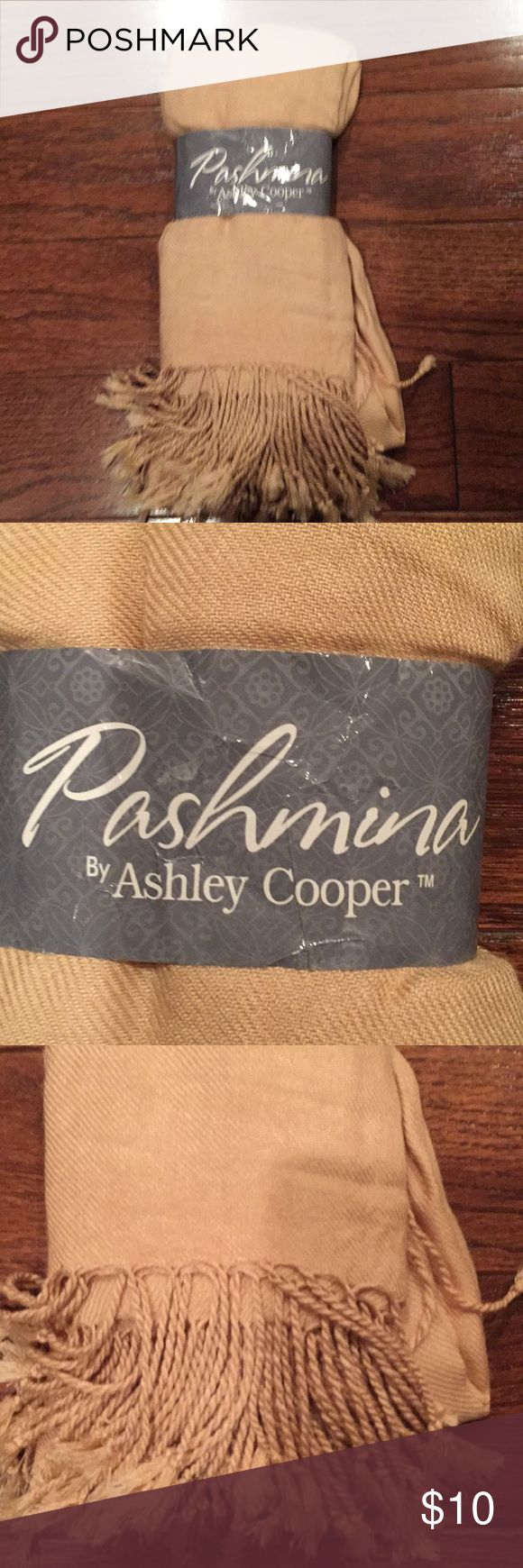 Beige Pashmina New, never been worn. Ashley Cooper Accessories Scarves & Wraps