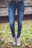 Baby Doll Skinny Jeans in Dark Denim | Entourage Clothing & Gifts
