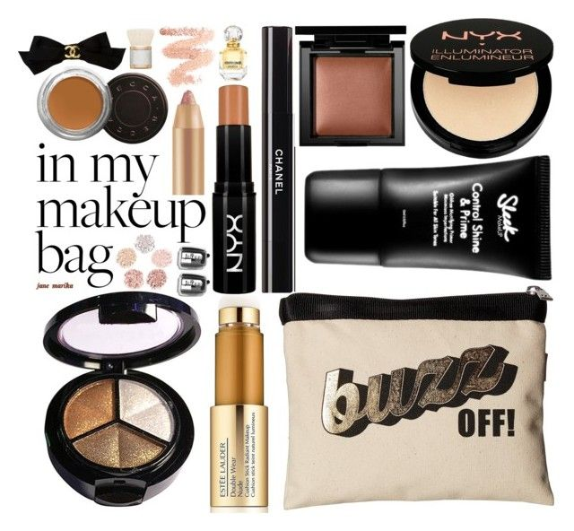 """""""#12 In My Makeup Bag: 10/11/17"""" by marika-jane ❤ liked on Polyvore featuring beauty, Harveys, Charlotte Russe, Estée Lauder, My Makeup Brush Set, NYX, Chanel, Becca, Bare Escentuals and LORAC"""