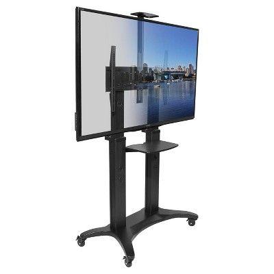 "Kanto Mobile TV Stand for 55""-80"" Flat Screen Display - Black (MTMA80PL)"