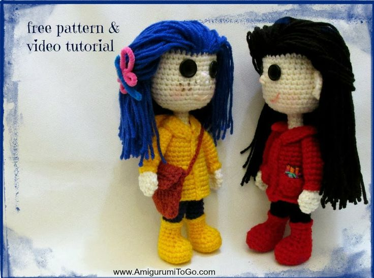 Amigurumi Wybie Doll : Amigurumi to go wybie doll button eyes free crochet pattern