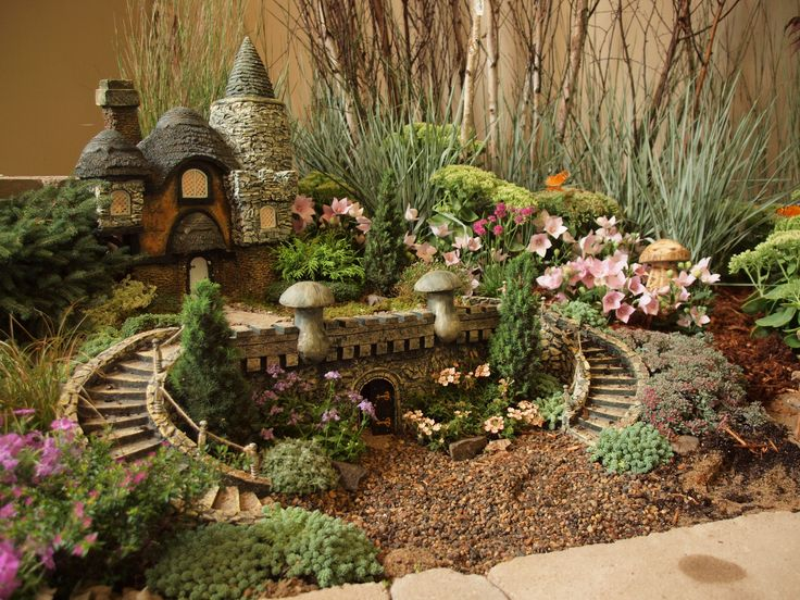 2090 best Fairy Gardens images on Pinterest Fairies garden Mini