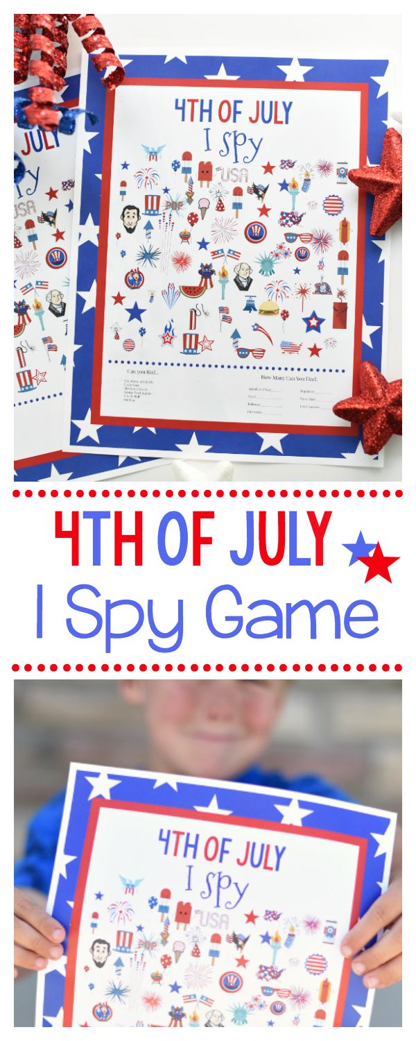 Grab this free printable 4th of July I Spy game to…