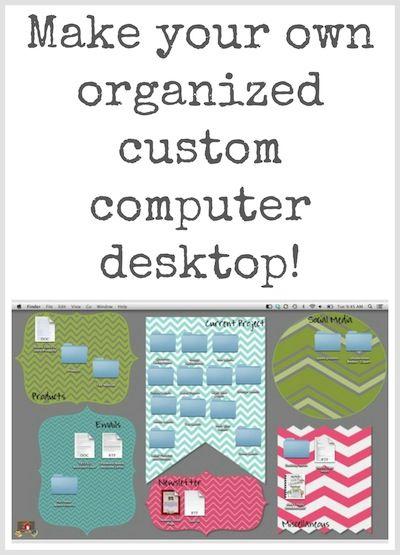 sooo clever! Tech Tuesday: Custom Organized Computer Desktops - The Organized Classroom Blog