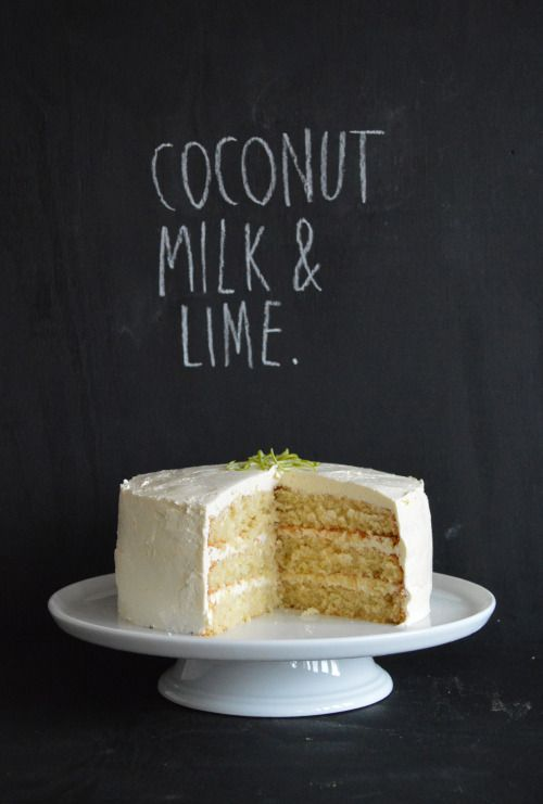 Man this cake is light and fluffy. Dessicated coconut is steeped in warm coconut milk to soften it and the lime is kept subtle with just their juice being squeezed over the baked sponges. And… it has hidden layers behind the meringue frosting. Love some hidden layers. All in all a minimal looking, sublimely flavoured cake.