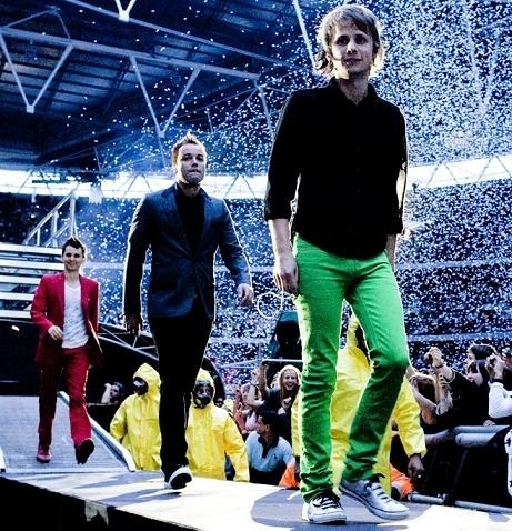 Dom, Chris, and Matt, of Muse.