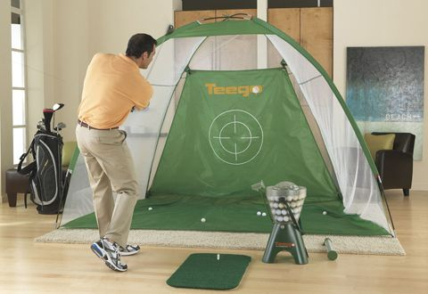 The Teego Golf Training System is the portable golf practice system that brings the driving range to you.