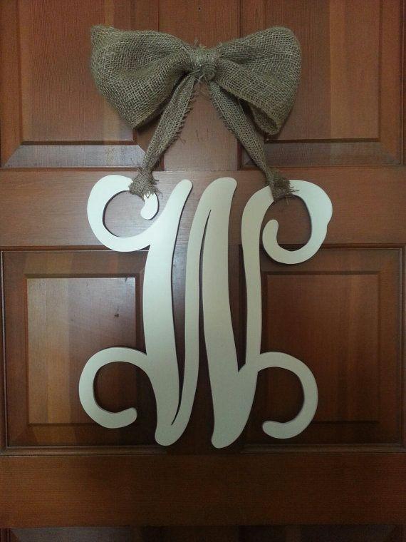 Hat Creek Designs: 18 inch Wood Monogram