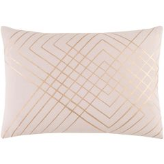 Blush & gold geometric Crescent pillow from Surya's simple & chic Minimalist trend (CSC-002).