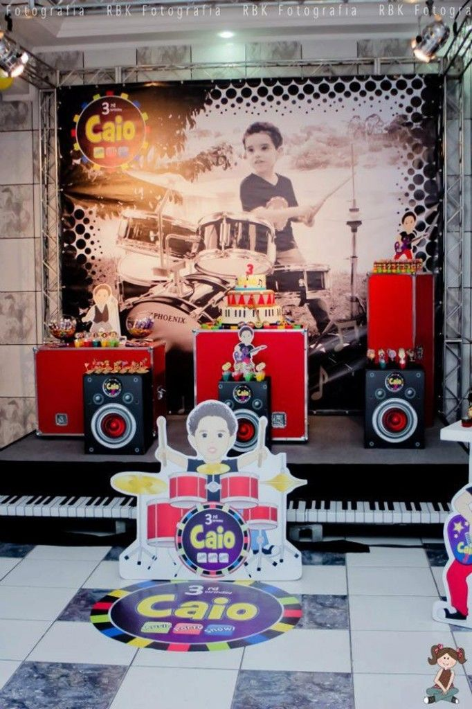 music theme party | Music Themed Party with So Many Fun Ideas via Kara's Party Ideas ...