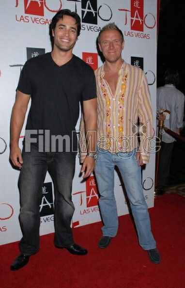 Victor Webster and Renny Harlin during LL Cool J After Concert Party at Tao in Las Vegas - July 14, 2006 at Tao Nightclub in Las Vegas, CA, United States. (Photo by Bruce Gifford/FilmMagic)