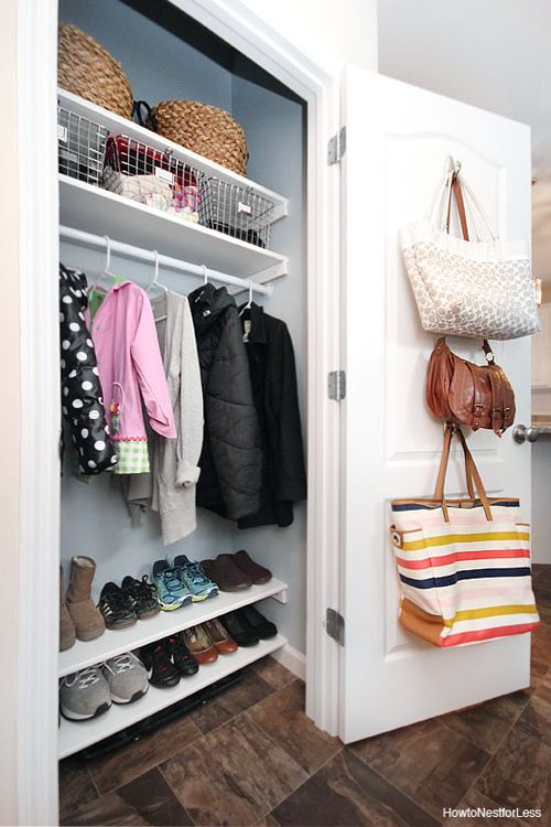 Best Entry Closet Organization Ideas On Pinterest Entry - Cool diy coat rack for maximizing closet space