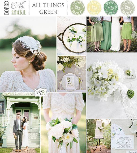 All things Green Inspiration Board from Magnolia Rouge