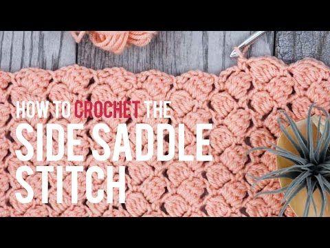 Punto crochet silla de montar o puntada posicion de lado - Patrones Crochet
