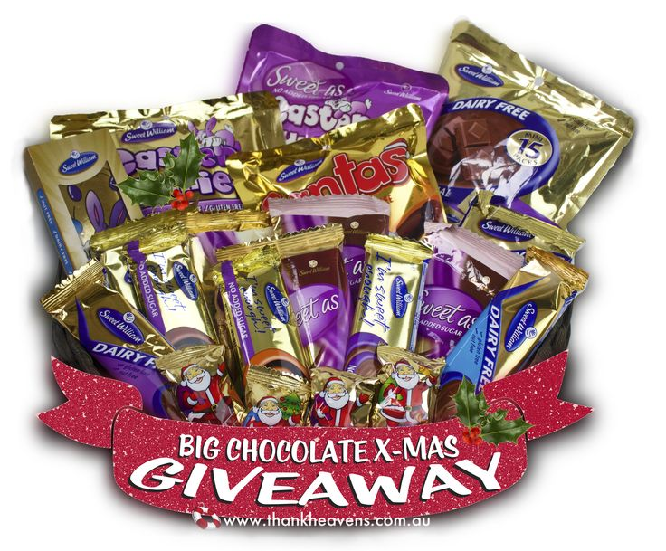 Win a large hamper of dairy-free chocolate for Christmas! :)