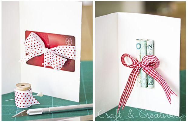 {DIY} 5 ideas para regalar dinero o tarjetas-regalo